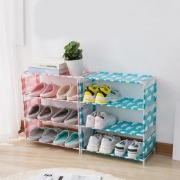 DIY stojak na buty przechowywania 3/4 warstwy tkaniny Oxford rury żelaza korytarz Drzwi do szafki organizer Flamingo niedźwiedź