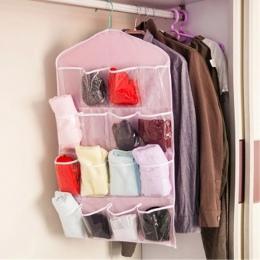 Przezroczyste wieszak na ubrania buty szafy kalesony torba do przechowywania 16 kieszenie składane szafa wiszące torby skarpety