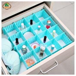 Msjo szuflada organizator 4 sztuk/zestaw z tworzywa sztucznego szafa domowa bielizna biustonosz biżuteria rozmaitości regulowany