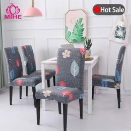 Wymienny nowoczesny pokrowiec na krzesło Stretch jadalnia pokrywa elastan elastyczne krzesło bankietowe ślubne obejmuje europy d