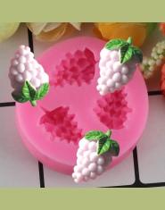 Silikonowa foremka w kształcie kiści winogron do pieczenia do kostek lodu wygodna w czyszczeniu akcesoria kuchenne