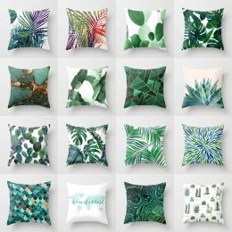 Elife Retro zielone liście kaktus pościel poduszka bawełniana przypadku poliester wystrój domu sypialnia sofa dekoracyjna Car rz