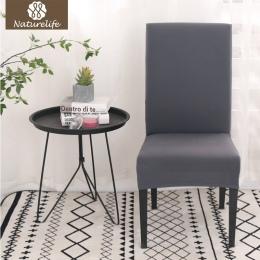 Naturelife jendolity kolor nadruk elastan krzesło pokrywa Anti-brudnej kuchni dekoracyjne poślizgu obejmuje elastyczne ręcznik ś