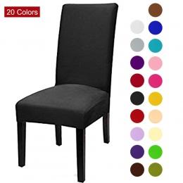 Jednolity kolor pokrowiec na krzesło elastan Stretch elastyczne pokrowce pokrowce na krzesła biała do jadalni kuchnia ślub banki