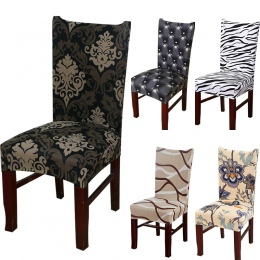 Elastan elastyczne drukowanie krzesło do jadalni narzuty nowoczesny wymienny anty-brudnej kuchni Seat Case elastyczny pokrowiec
