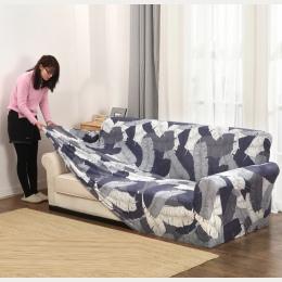 Slipcovers kanapa rozkładana okładka all-inclusive antypoślizgowa przekroju elastyczna pełna narzuta na sofę Sofa ręcznik pojedy