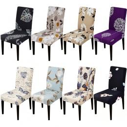 Drukowane elastyczny pokrowiec na krzesło pokrowce na krzesła zdejmować i prać stretch bankiet Hotel jadalnia pokój ramię pokrow