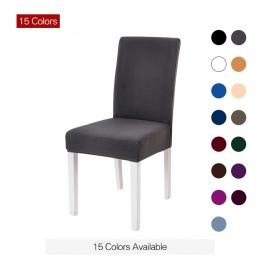 Stały kolory elastyczne Stretch Elastyczna Pokrowca na Krzesło dla Wesele elastyczne wielofunkcyjne meble do jadalni obejmuje Wy