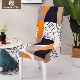 Naturelife wzór krzesło Protector nowoczesne jedwabiście etui na siedzenia wymienny dekoracyjne elastyczne krzesło poliestrowe o