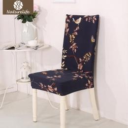 Naturelife jedwabiście elastyczne pokrowiec na siodełko przeciwporostowe krzesło domowe obejmuje wymienny nowoczesny wzór ameryk