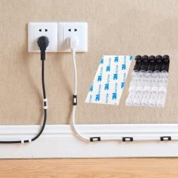 20 pcs przechowywania drutu klipy klamra zarządzanie organizator zabezpieczania zacisk kablowy kabel obudowa linia danych wykońc