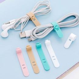 4 sztuk/partia proste silikonowy pasek taśmy winder ucho mechanizm linii przechowywania wielofunkcyjny otrzymać klipsy do worecz