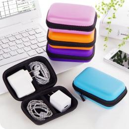 Przenośny Mini pudełko do przechowywania prostokątna szkatułka słuchawki douszne słuchawki SD karty trzymaj etui do przenoszenia