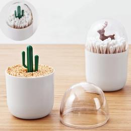 LASPERAL kreatywny lotosu wacik pudełko do przechowywania bawełniany uchwyt wykałaczki plastikowy organizer kuchnia pojemnik do