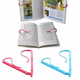 1 pc stojak na książki przenośne głośnomówiący stojak na książkę składany statyw posiada stron otwarty klip naprawiono zacisk #2