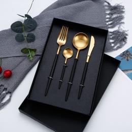 Gorąca sprzedaż zestaw obiadowy sztućce widelce noże łyżki Wester naczynia kuchenne ze stali nierdzewnej strona główna zestaw st