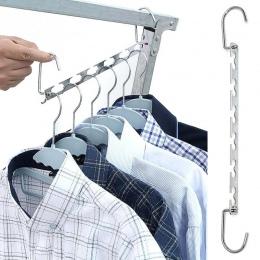 1 sztuk 37 cm wielofunkcyjne ubrania metalowe szafy wieszaki organizer odzieży suszarka do prania z hakiem oszczędność miejsca