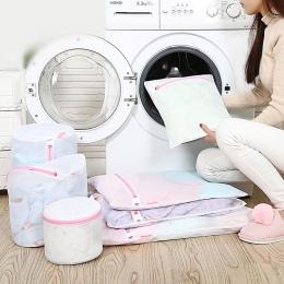 Luluhut torby na pranie do pralki nylonowa siatka kosz na bieliznę na ubrania biustonosze skarpety składany ochrony torba na pra