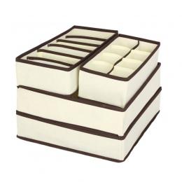 LASPERAL 4 sztuk pudełka do przechowywania bielizna powiekach przegroda szuflady szafa organizator organizator Ropa wnętrza do k