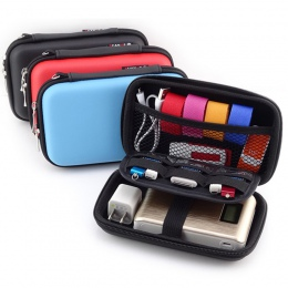 LASPERAL słuchawki zwijane przypadku ze skóry pudełko do przechowywania przenośny organizer na kable USB przenoszenia ciężka tor