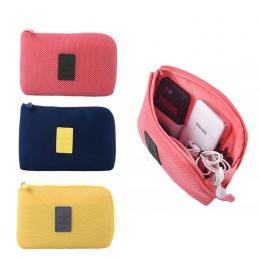 Pudełko podróżne dla cyfrowy ładowarka kabla danych słuchawki przenośne myjka torba uchwyt na bank mocy pudełko kosmetyczne