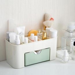 Różowy niebieski zielony plastikowy organizator do makijażu do makijażu pędzel do makijażu pudełko do przechowywania z szufladą