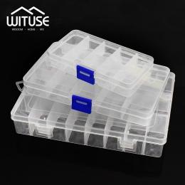 Praktyczny, regulowany 10/15/pojemnik z tworzywa sztucznego 24 pudełko do przechowywania biżuteria kolczyk koralik śruba uchwyt