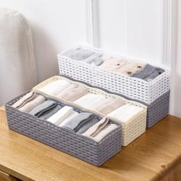 LASPERAL 5 siatki szafa pudełko do przechowywania kosz organizator kobiety mężczyźni skarpetki biustonosz pojemnik do przechowyw