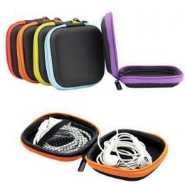 Lasperal proste okrągły kształt EVA słuchawki pudełko do przechowywania kable do transmisji danych zmian pudełko do przechowywan