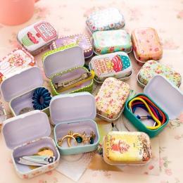Kolorowe mini puszka uszczelnione opakowanie-słoik pudełka biżuteria, pudełko cukierków małe pudełka do przechowywania puszek mo