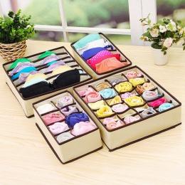Urijk bielizna organizer biustonoszy pudełko do przechowywania 2 kolory beżowy/Rose szuflady szafy organizatorzy pudełka na biel