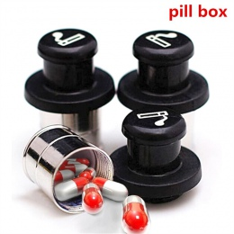 Tajemnica Stash zapalniczki samochodowej ukryte zmiany kierunku wkładka Pill Box pojemnik do przechowywania w przypadku (czarny