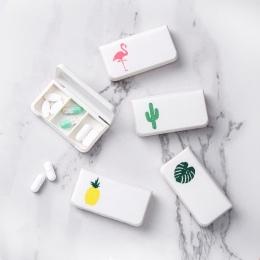 IVYSHION 1 Pc przenośne pudełko na pigułki plastikowe pudełko na pigułki zestaw medyczny witamina medycyna pudełka przechowywani