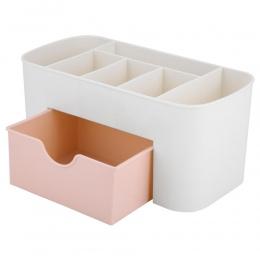 Z tworzywa sztucznego pudełko do przechowywania makijaż organizator Case szuflady kosmetyczne wyświetlacz przechowywania organiz
