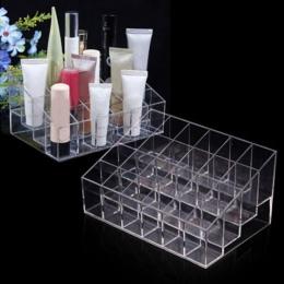 24 siatka akrylowa makijaż organizator stojak na kosmetyki stojak na szminki makijaż kuferek kosmetyczny różne biżuteria narzędz