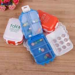 Z tworzywa sztucznego raz w tygodniu składane medycyna Tablet opakowanie na tabletki przenośny cukierki witaminy pojemnik do prz