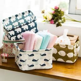 Składane miejsce do przechowywania kosz do przechowywania Bin pojemnik na zabawki Box pojemnik organizator tkaniny kosz na blat