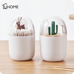Kreatywny zwierząt drzewo uchwyt na wykałaczki wacik Box waciki uchwyt Case Home wystrój stołu z tworzywa sztucznego pudełko do