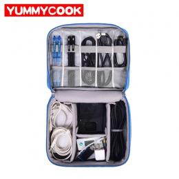 Podróży torba na kabel przenośny cyfrowy USB gadżet organizator ładowarka przewody kosmetycznych zamek pokrowiec zestaw akcesori