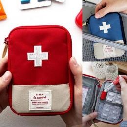 1 PC przenośna torba podróżna na zewnątrz apteczka torba na leki domu mały pojemnik na akcesoria medyczne awaryjne Survival Pill