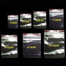 100 sztuk/paczka biżuteria Ziplock Zip zapinana na zamek zapinana na zamek plastikowe przezroczyste torebki do ponownego zamykan