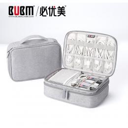 BUBM przenośna elektroniczne akcesoria podróży przypadku, organizer do kabli torba torba torba transportowa do kabli, USB flash,