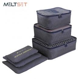 6 sztuk/zestaw organizator podróży torby do przechowywania przenośny bagaż organizator odzież Tidy etui do pakowania walizek tor