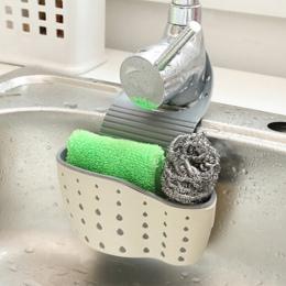 Przydatne przyssawka gąbka kuchenna spustowy uchwyt z gumy PP mydło toaletowe półka organizator gąbka stojak do przechowywania k