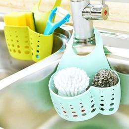 LASPERAL regulowany Snap Sink gąbka regał do przechowywania wiszący kosz łazienka akcesoria organizer do kuchni wiszące uchwyt d