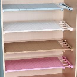 Regulowany Organizer szafy do przechowywania półki półka do montażu na ścianie półka kuchenna oszczędność miejsca szafa dekoracy