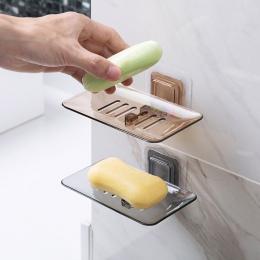 MeyJig mydelniczki spustowy gąbka uchwyt łazienka organizator stojak do montowania na ścianę mydło Box kuchnia półka wisząca