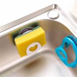 1 Pc łazienka półka ręcznik uchwyt na mydelniczkę kuchnia zlew danie gąbka przechowywania uchwyt stojak Robe haki Sucker akcesor