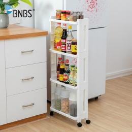 BNBS towarów do kuchni stojak do przechowywania lodówka bocznej półce 2/3/4 warstwa wymienny z koła łazienka organizator półka l