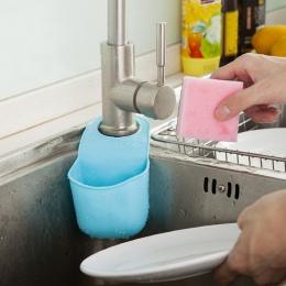 Nowa kuchnia uchwyt na gąbkę do zlewu łazienka wiszące sitko organizator pudełko do przechowywania stojak na